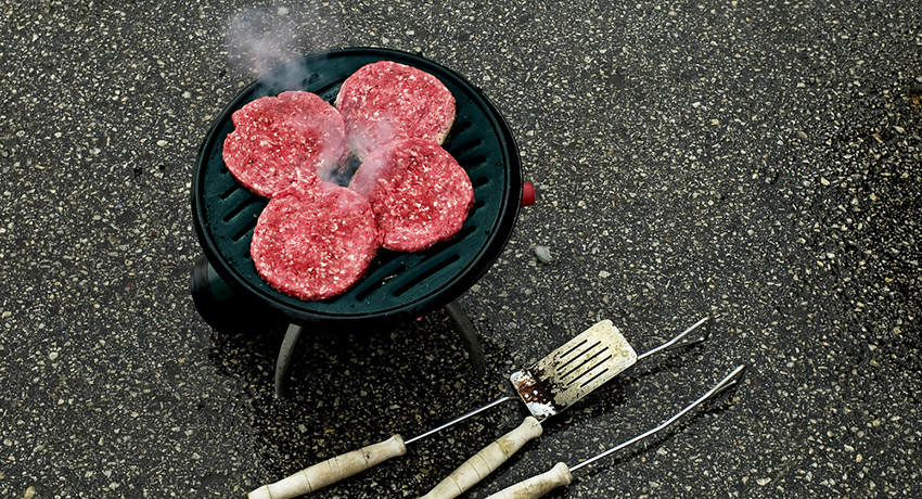 If this is your idea of tailgating, you need the above recipes. Burger image via shutterstock