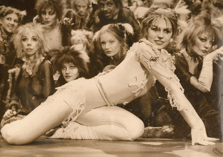 Finola Hughes in the original production of Cats in London. Photo provided.
