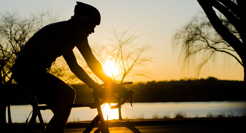 Cyclist image via shutterstock
