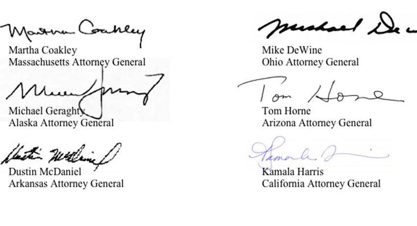 A few of the TK signatures. For the full document, click here.