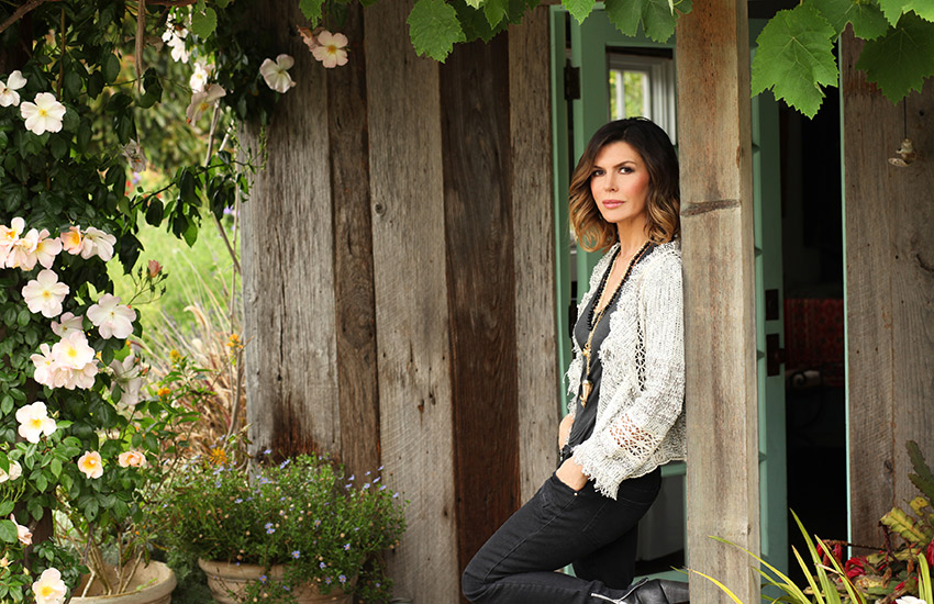 Finola in her garden in Santa Barbara. Photo provided.
