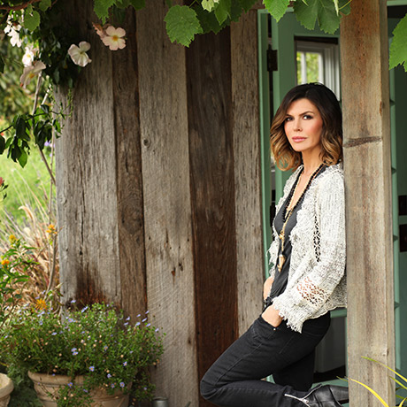 Finola in her garden in Santa Barbara. Photo provided.