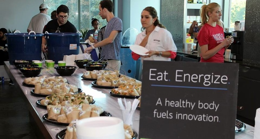 Healthy food was provided all weekend during the hackathon. Image via HackFit Facebook.