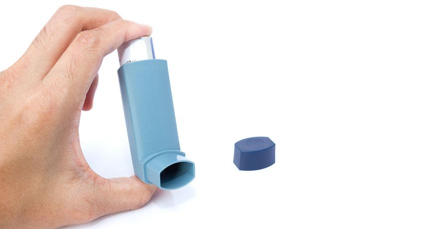 Inhaler image via shutterstock