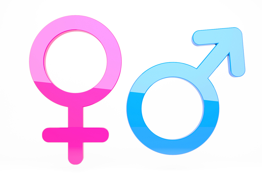 Male/female signs image via shutterstock