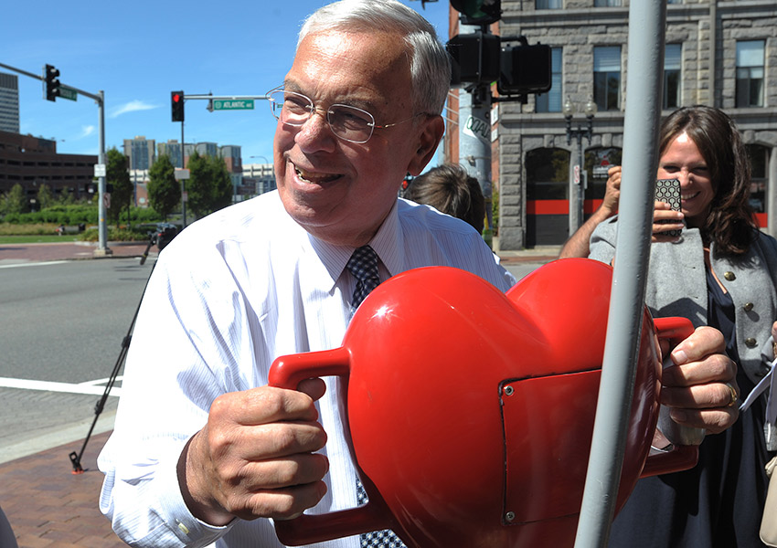 Mayor Menino has heart. Photo provided.
