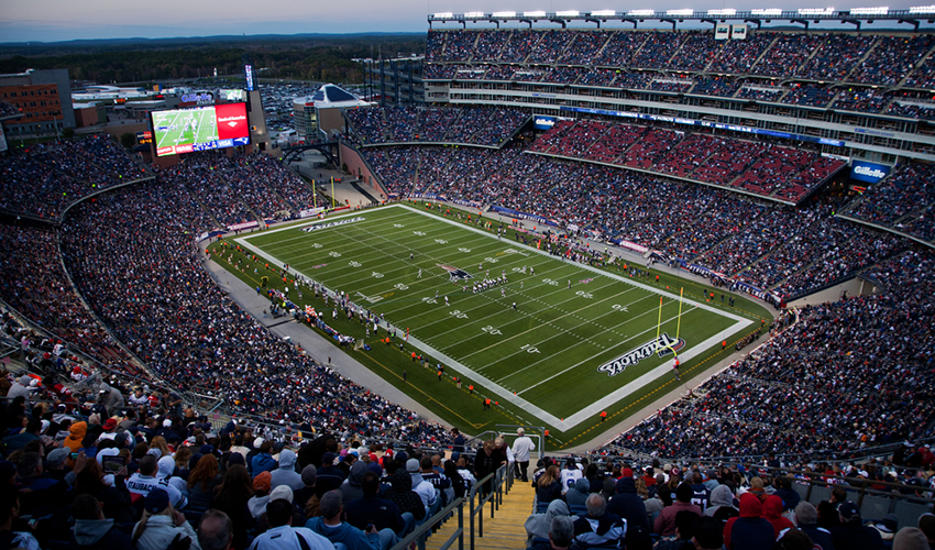 Apparently, there's more riding on the game than just your sanity. Your diet is affected, too. Patriots game photo by spirit of america / Shutterstock.com