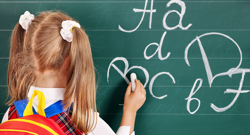 Back to school image via shutterstock
