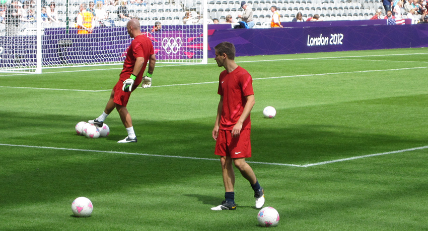 Dr. TK on the field at the London 2012 Olympics