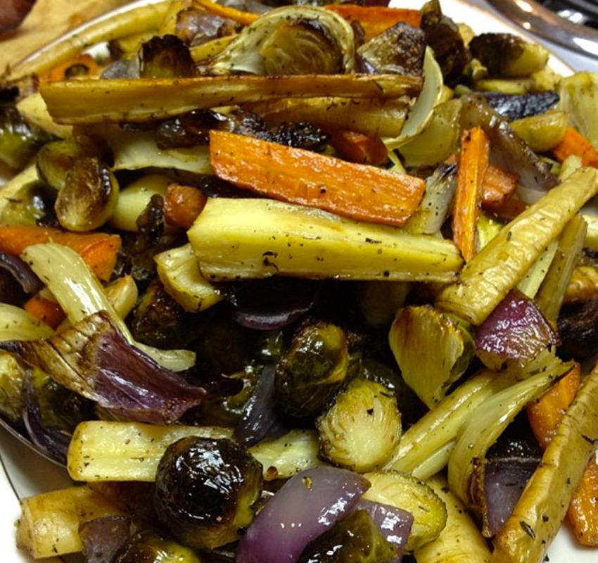 Roasted veggies.