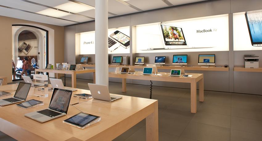 Apple store image via pio3 / Shutterstock.com