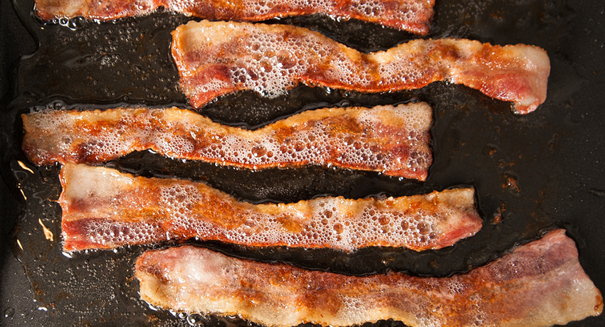 Bacon image via Shutterstock