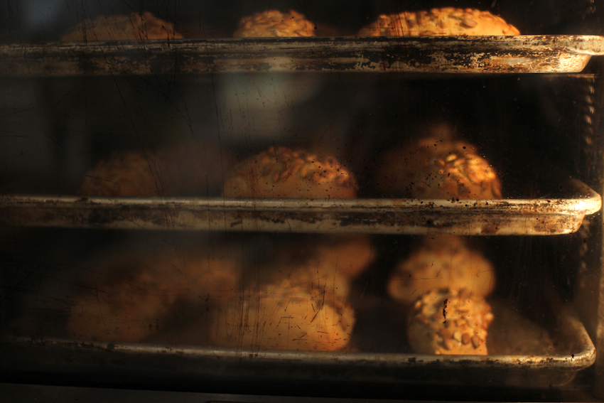 The smell of freshly baked buns is often what draws customers to Clear Flour in the morning.