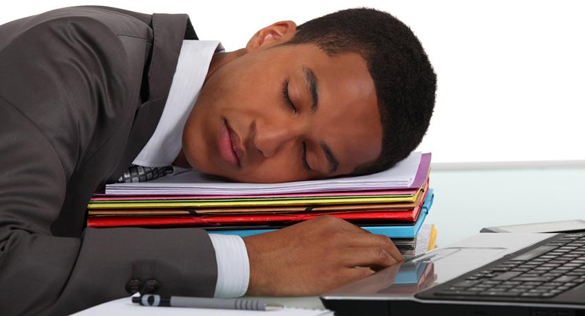 sleepy worker photo