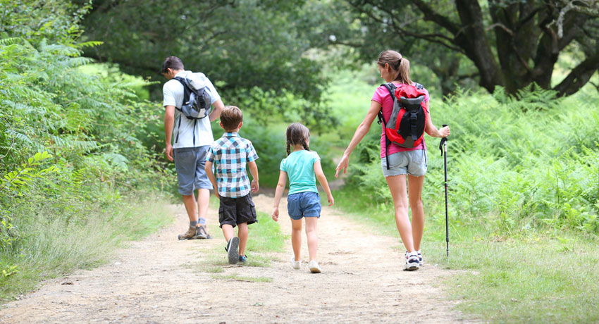 Family hiking image via shutterstock