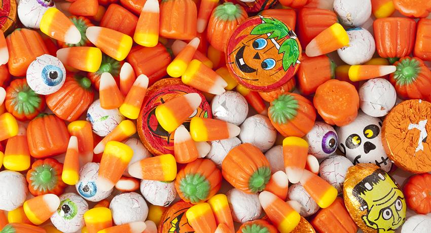 Halloween candy image via shutterstock