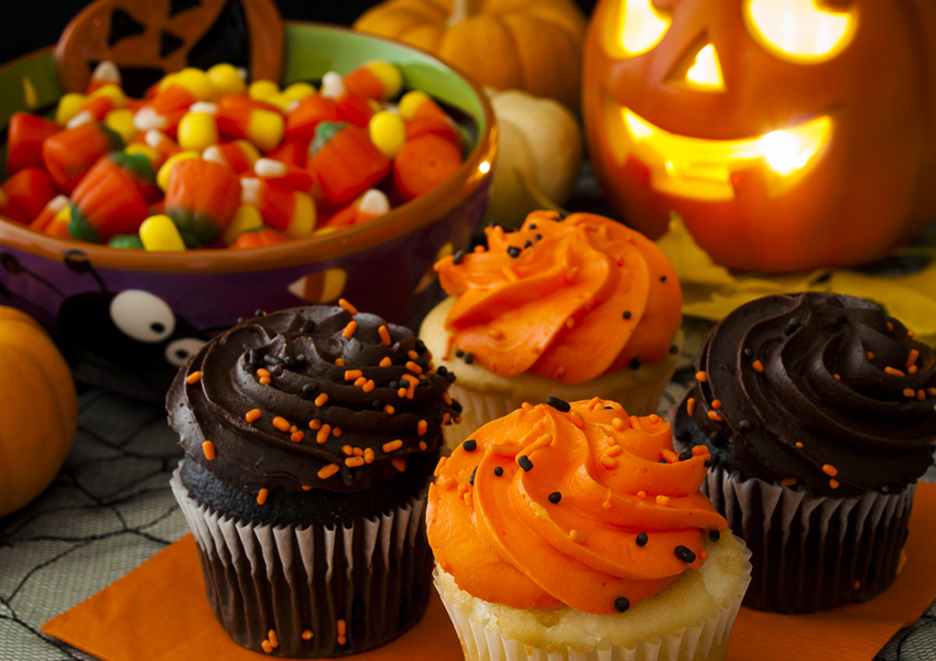 Halloween goodies image via shitterstock