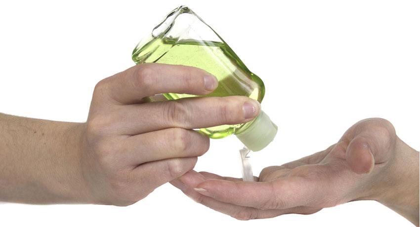 Hand sanitizer image via shutterstock