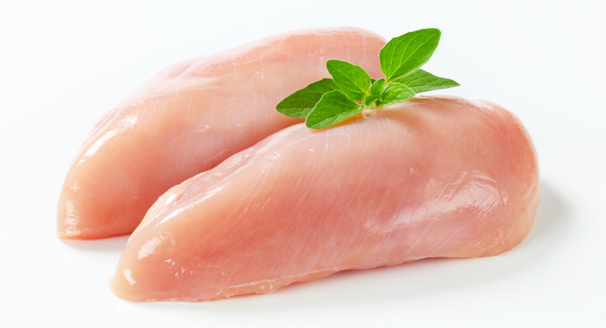 Raw chicken image via shutterstock