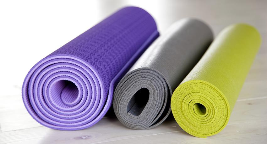 yoga mats image via shutterstock