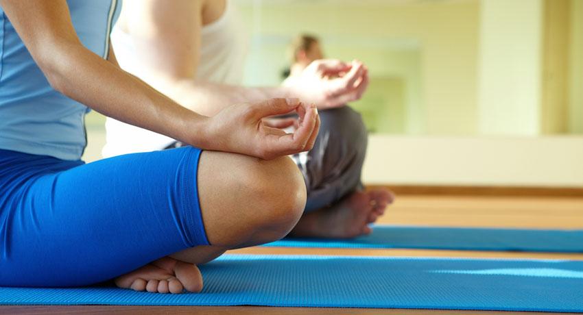 Yoga meditation image via shutterstock