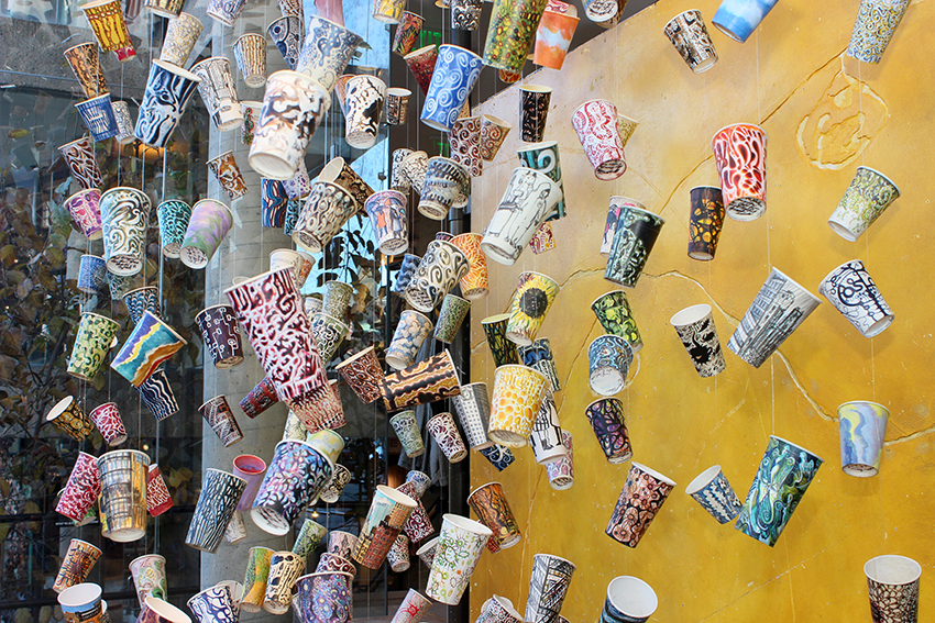gwyneth leech paper cups anthropologie cambridge harvard square