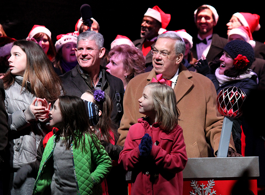 faneuil hall blink tree lighting mayor menino