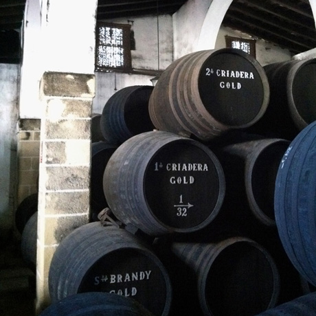 barrels stacked