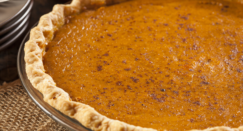 Thanksgiving pie image via shutterstock