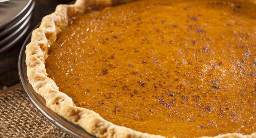 Thanksgiving pie image via shutterstock