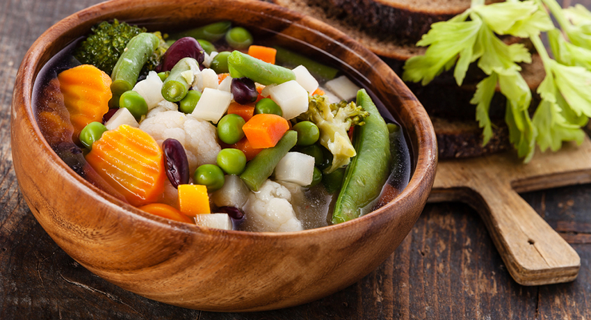 Hearty soup image via shutterstock