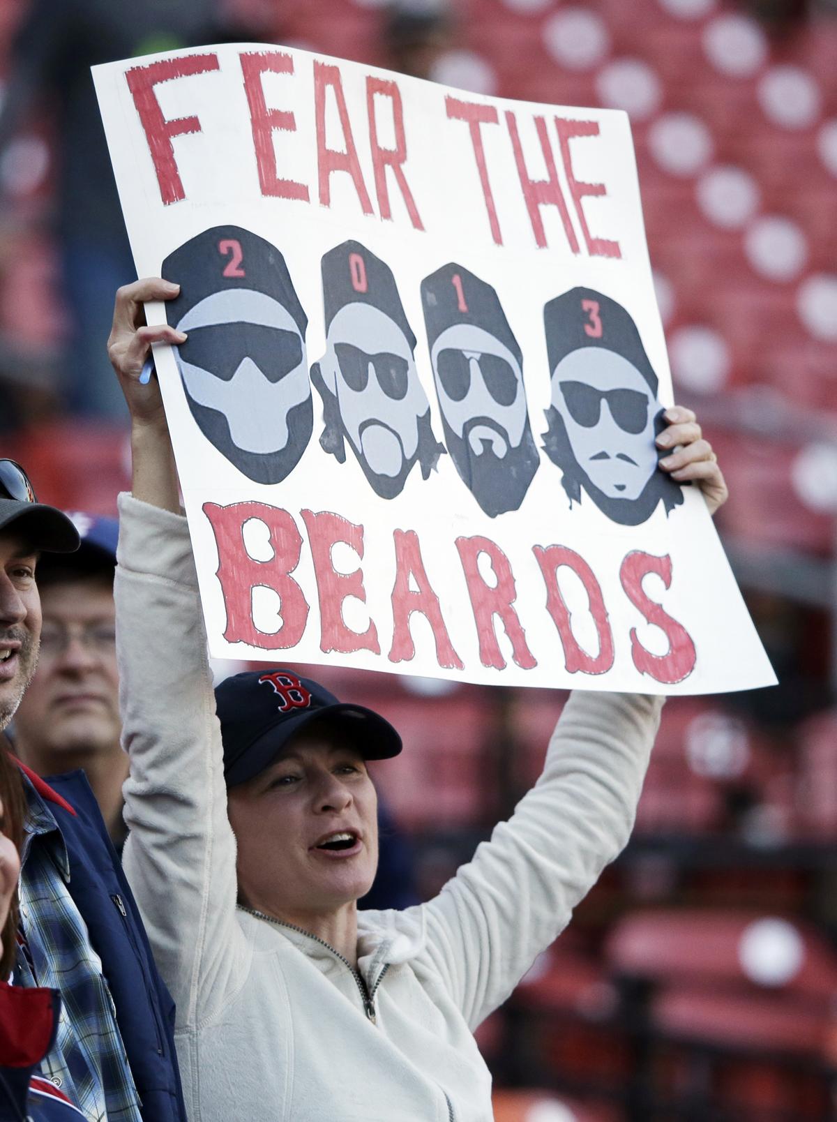 boston red sox fan fear the beards