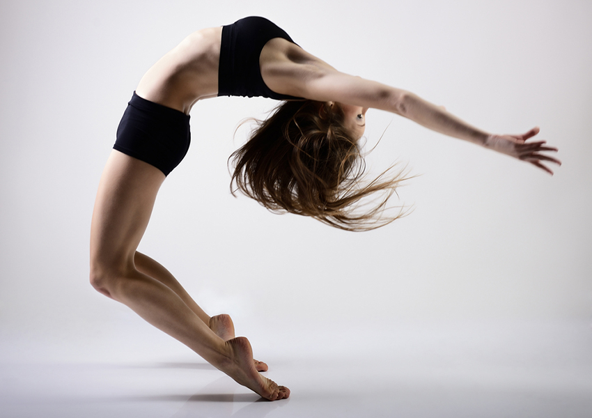 Flexibly woman image via shutterstock