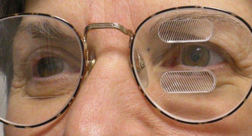 peripheral prism glasses image provided