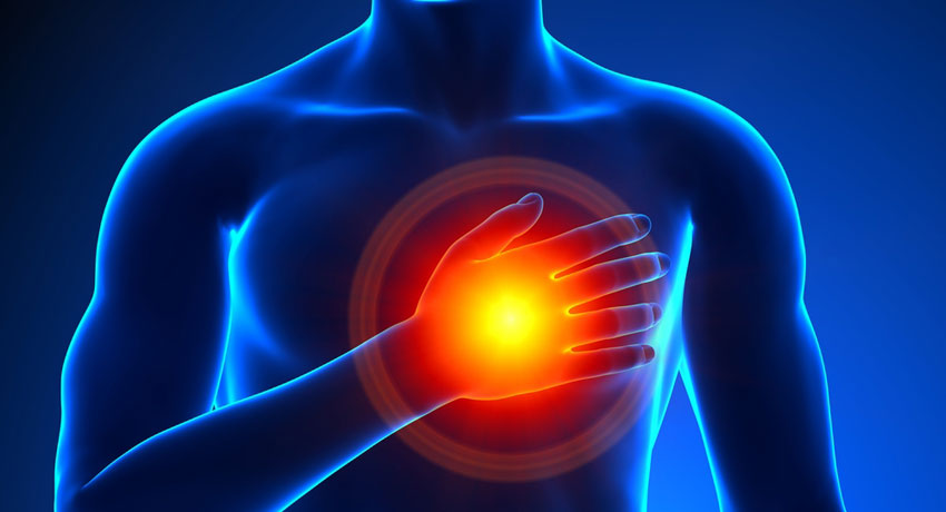 Heart pain image via shutter stock