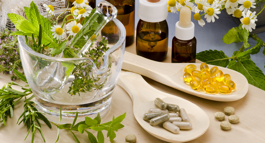 Herbal supplements image via shutterstock