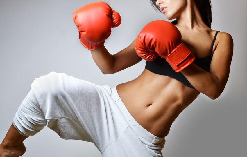 Kickboxing image via shutterstock