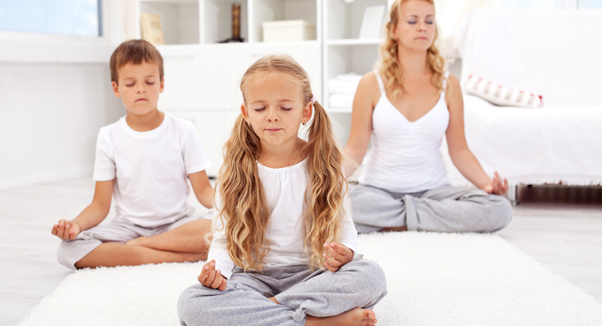 Kids yoga image via shutterstock