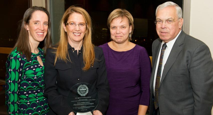 Mayor Tom Menino with award winners. Photo provided.