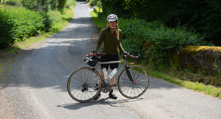 Constance and her Seven Cycles road bike photo provided