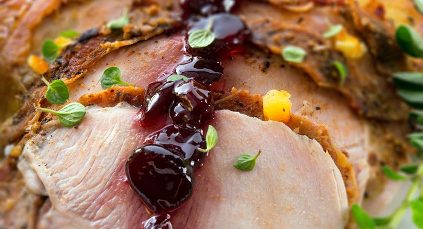 Thanksgiving meal image via shutterstock