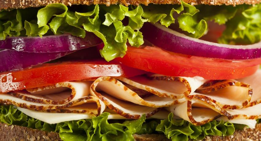 Turkey sandwich photo via shutterstock