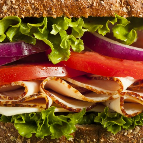 turkey sandwich square