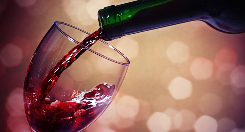 Red wine image via shutter stock
