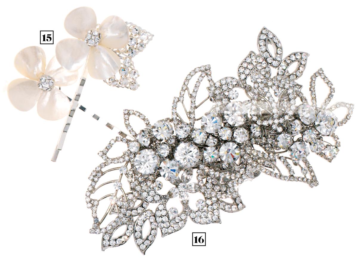 jeweled hair clips