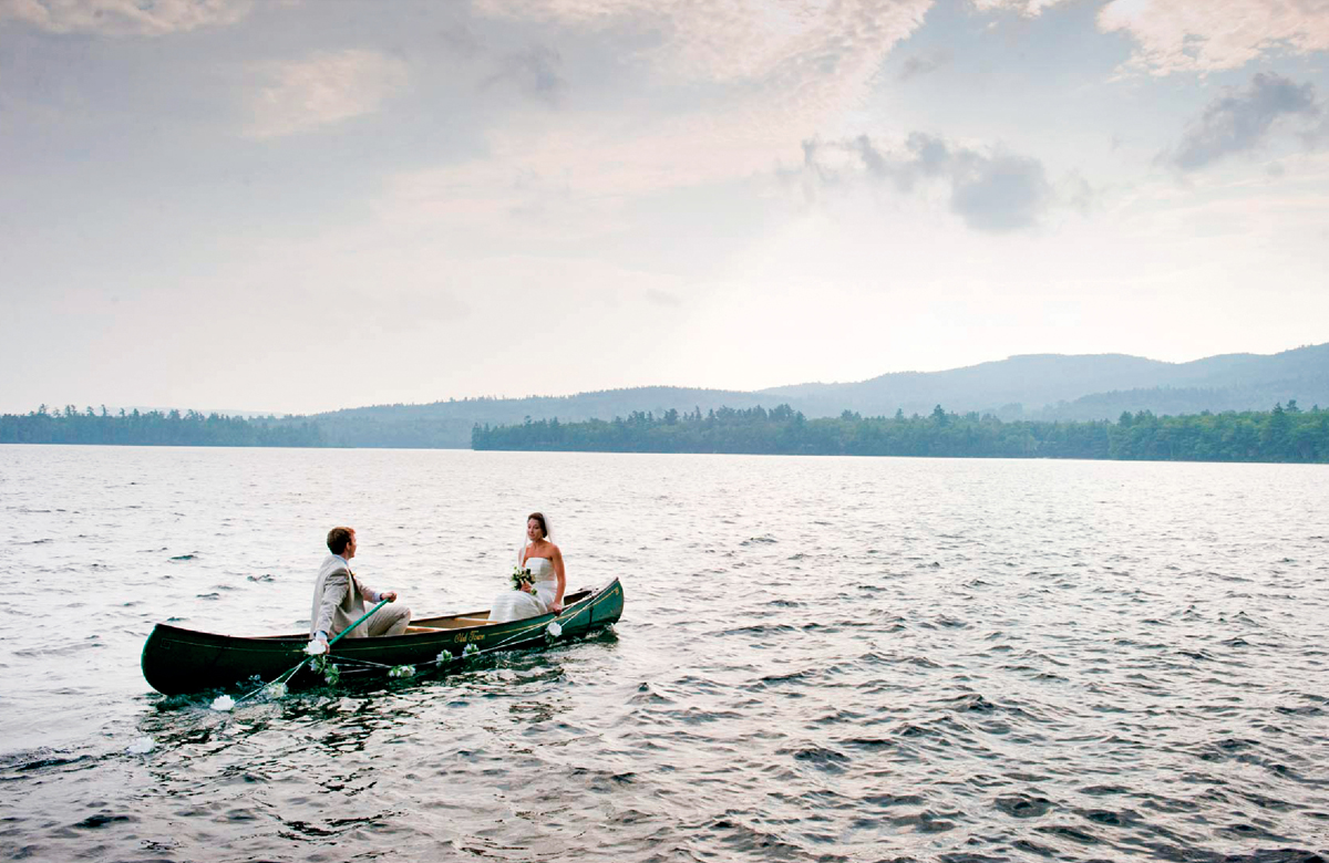 just married vehicle idea canoe