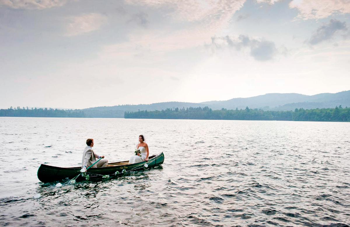 just married vehicle idea canoe