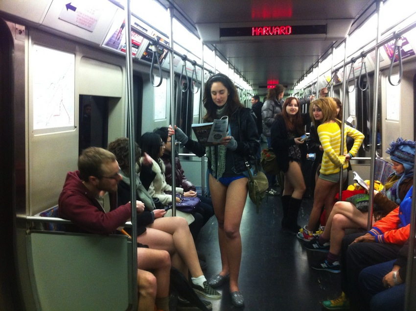 No Pants Subway Ride By @BostonTweet