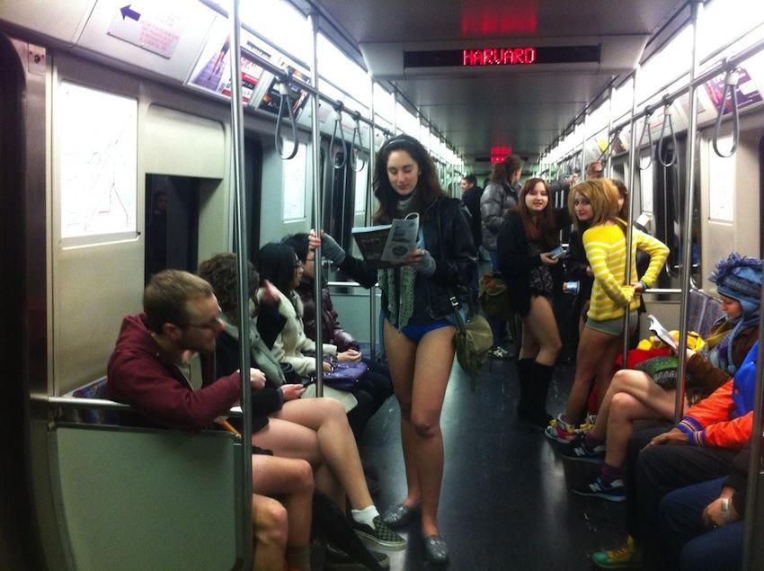 No Pants Subway Ride By @BostonTweet
