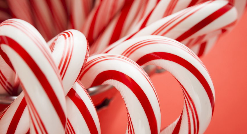 Candy canes image via shutterstock
